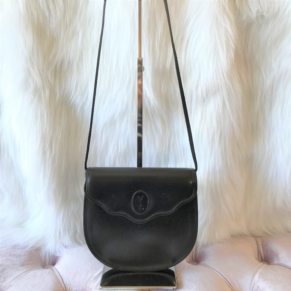 YSL Vintage Black Leather Cross Body Bag. M 5a959c463afbbd0b610d0c56 2ba228adc5b95